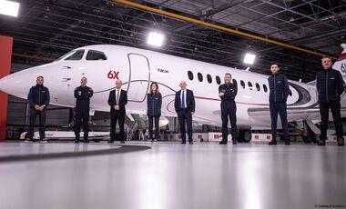 Das virtuelle Falcon 6X Rollout fand am 8. Dezember 2020 in Bordeaux-Merignac statt.