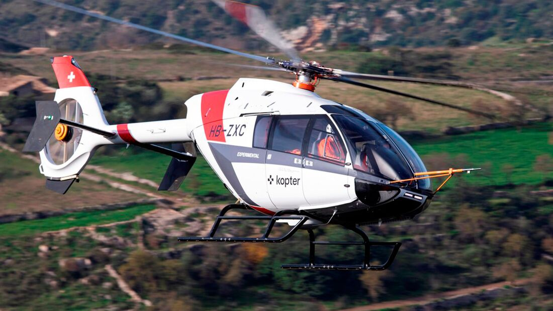 Kopter SH09 im Flug.