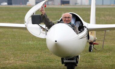 Rekord-Segelflieger Hans-Werner Große